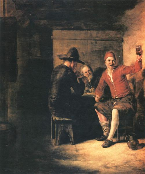 Happy drinker, c.1650 - Pieter de Hooch