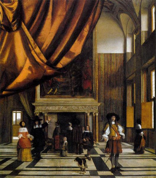 The Council Chamber of the Burgomasters, c.1665 - Pieter de Hooch