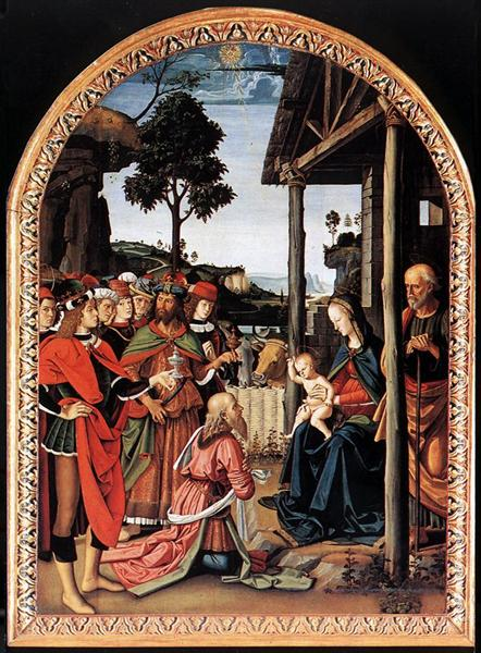 Adoration of the Kings (Epiphany) - Pietro Perugino