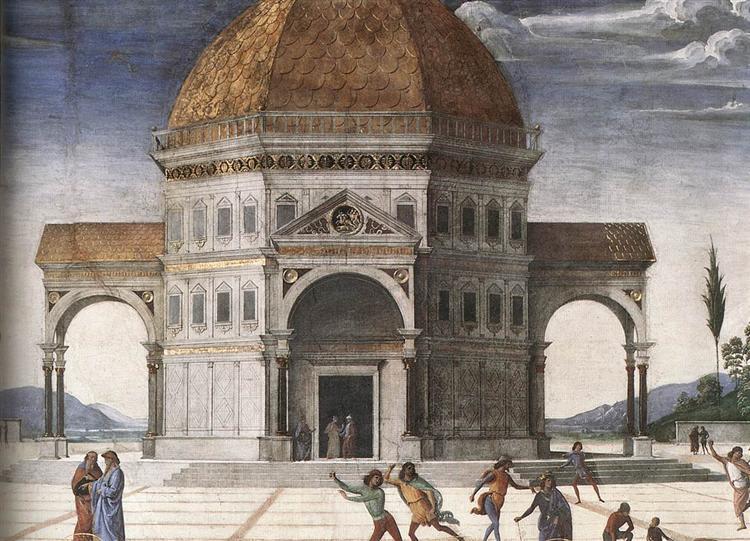 Christ Handing the Keys to St. Peter (detail 1), 1481 - 1482 - Pietro Perugino