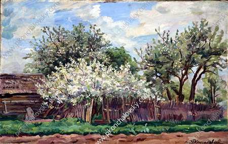 Garden in bloom, 1932