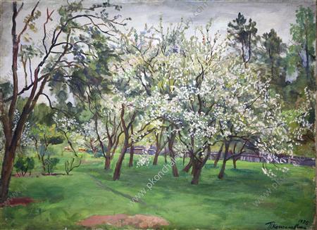 Garden in bloom, 1935