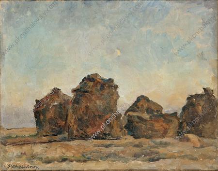 Haystacks in the evening, 1926