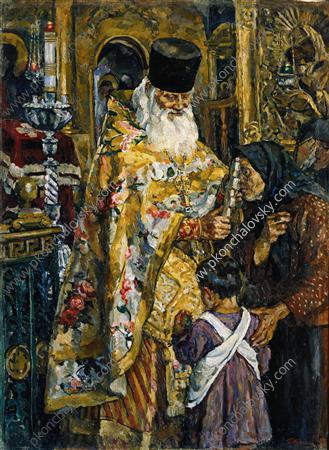 In the cathedral of Yuryev (Abbot Bessarion), 1926