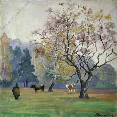 Mist. Landscape with Cows., 1934