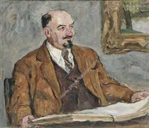 Portrait of Professor N. P. Remizov - Pjotr Petrowitsch Kontschalowski