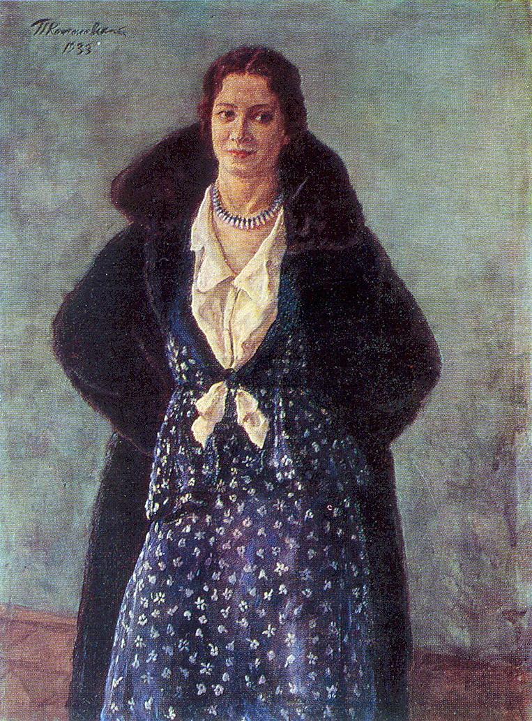 Portrait of the actress Angelina Osipovna Stepanova, 1933