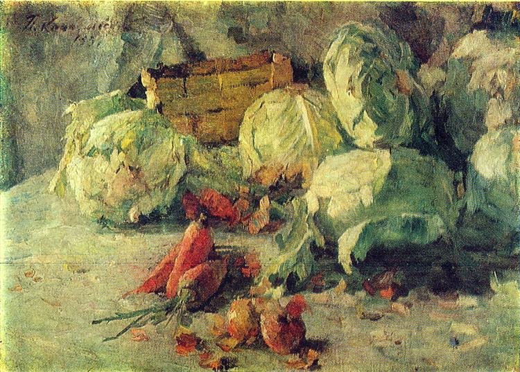 Still Life with Cabbage, 1937 - Pyotr Konchalovsky