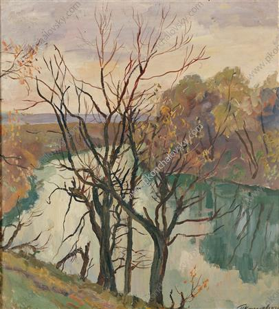 The river. Leafless trees., 1938