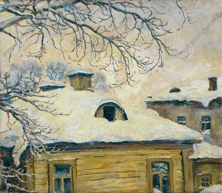 Winter. Rooftops., 1942
