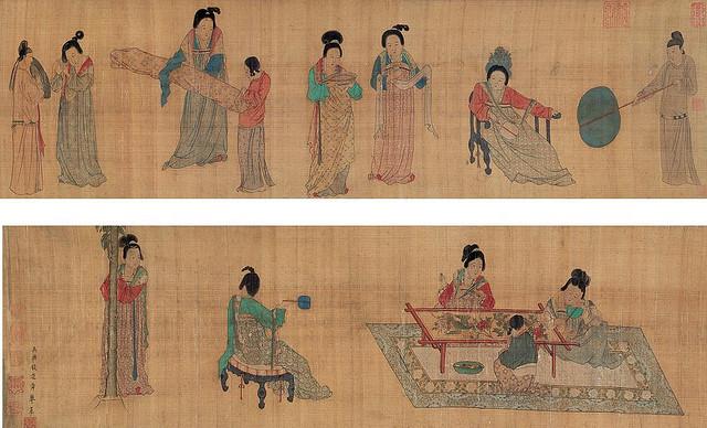 挥扇仕女图 - Qian Xuan