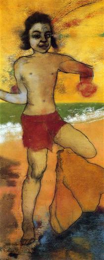 Bather (Psychotic Boy) - R. B. Kitaj
