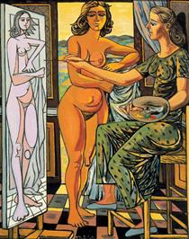 Interior with nude - Rafael Zabaleta