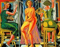 Painters and Model - Rafael Zabaleta