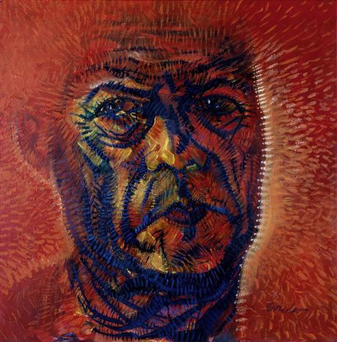 Red Self-Portrait - Ramon Oviedo