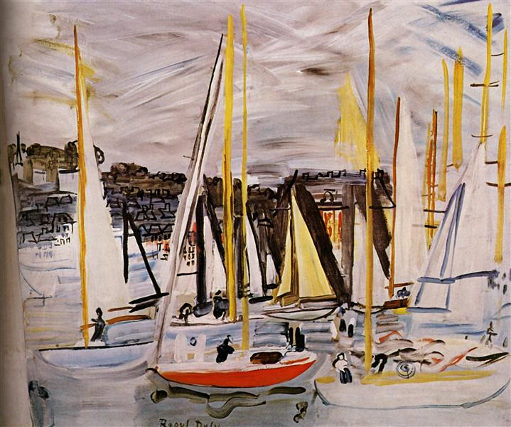 The Basin of Deauville, 1935 - Raoul Dufy