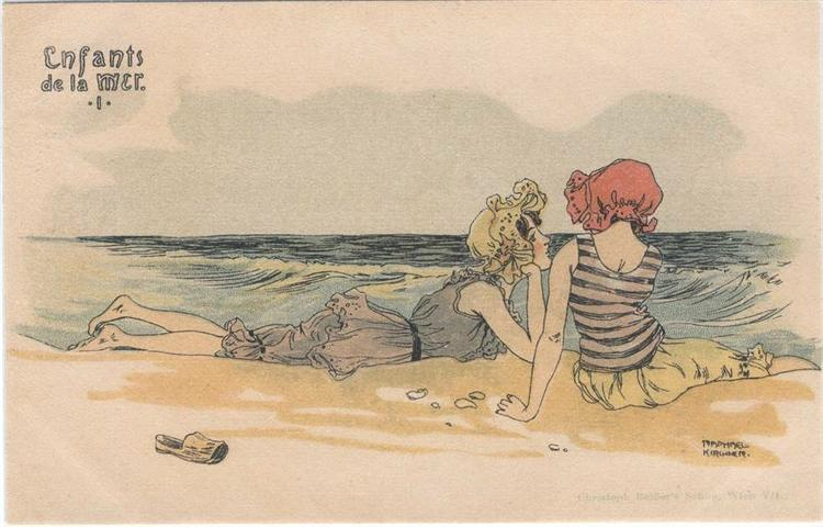 Boys and girls at sea - Raphael Kirchner