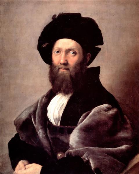 Portrait of Baldassare Castiglione, 1516 - Raphael