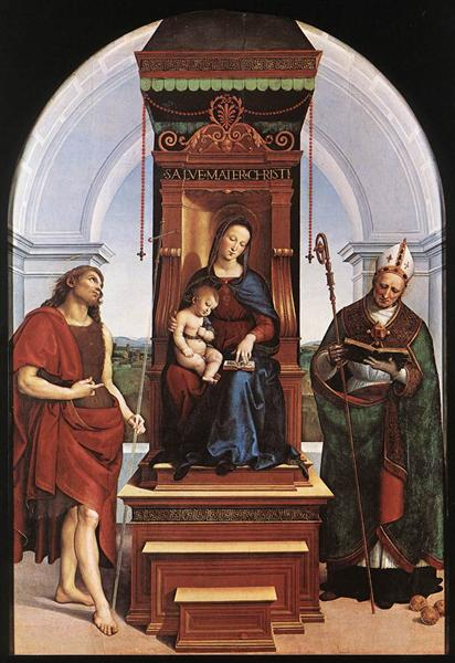 The Madonna and Child with St. John the Baptist and St. Nicholas of Bari, 1505 - Raphael