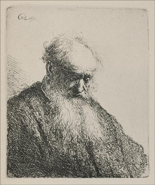 An Old Man with a Beard, 1630 - Rembrandt