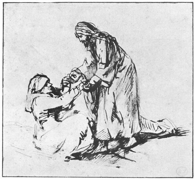 Healing of Peter`s Mother in law, 1660 - Rembrandt