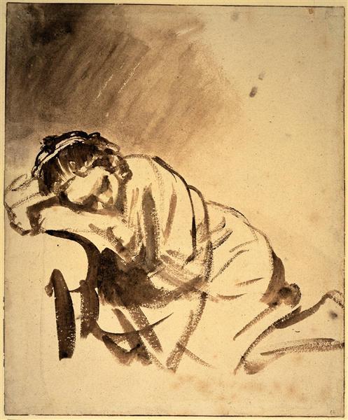 Hendrickje sleeping, c.1654 - Rembrandt