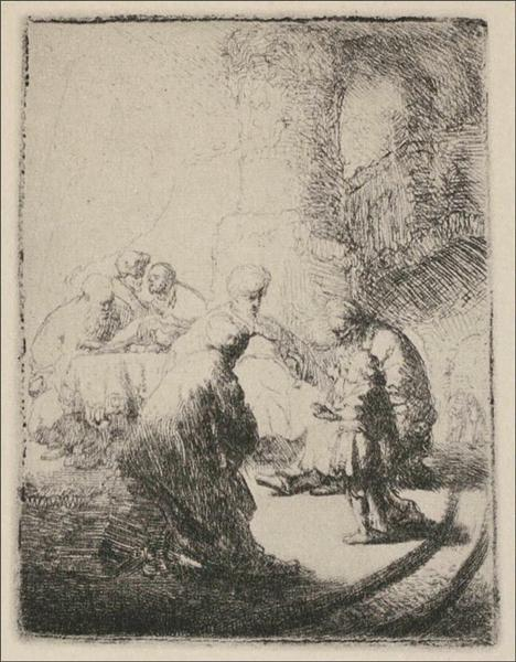 Jesus Disputing with the Doctors - Rembrandt