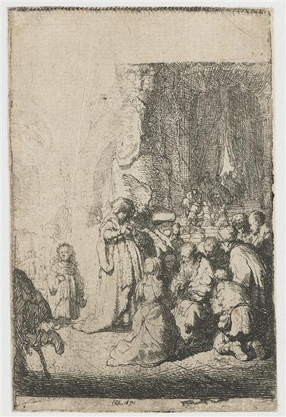 Simeon`s hymn of praise, 1630 - Rembrandt