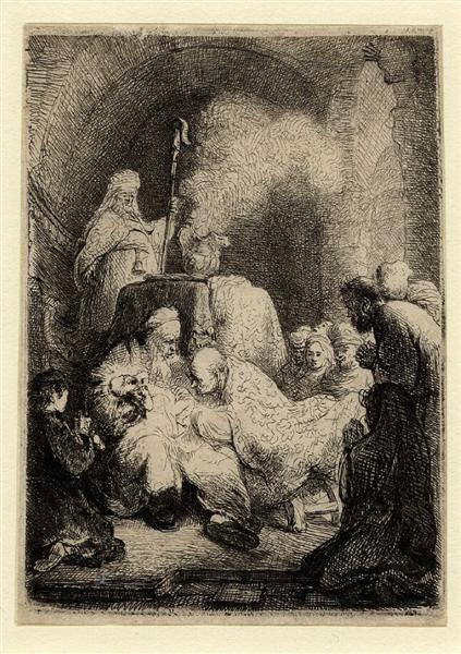 The circumcision small plate, c.1630 - Rembrandt