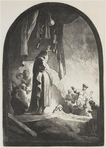 The raising of Lazarus - Rembrandt
