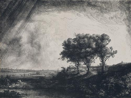 The Three Trees - Rembrandt