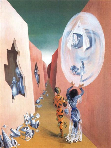 Gypsy and harlequin, 1947 - Remedios Varo