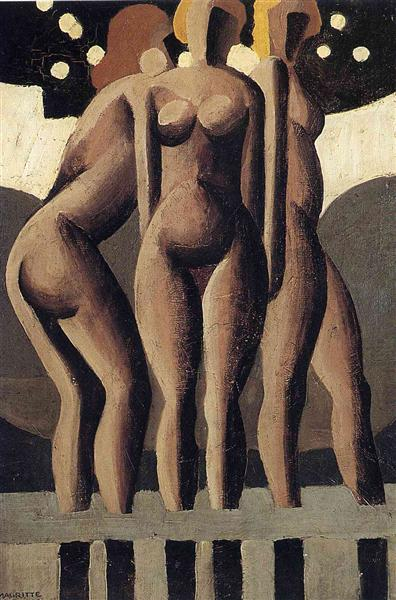 Bathers, 1921 - Rene Magritte