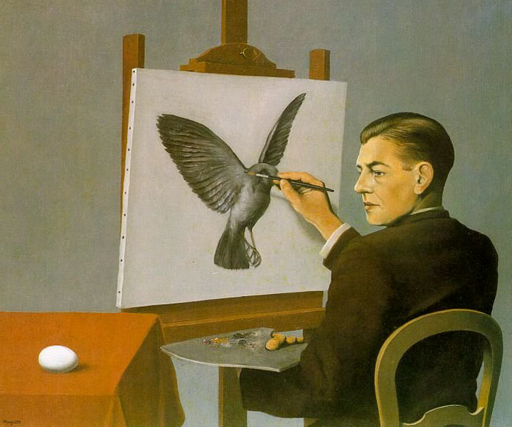 Exceptionnel Clairvoyance (Self Portrait), 1936 - Rene Magritte - WikiArt.org FI88