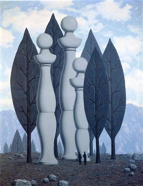 The art of conversation, 1950 - Rene Magritte