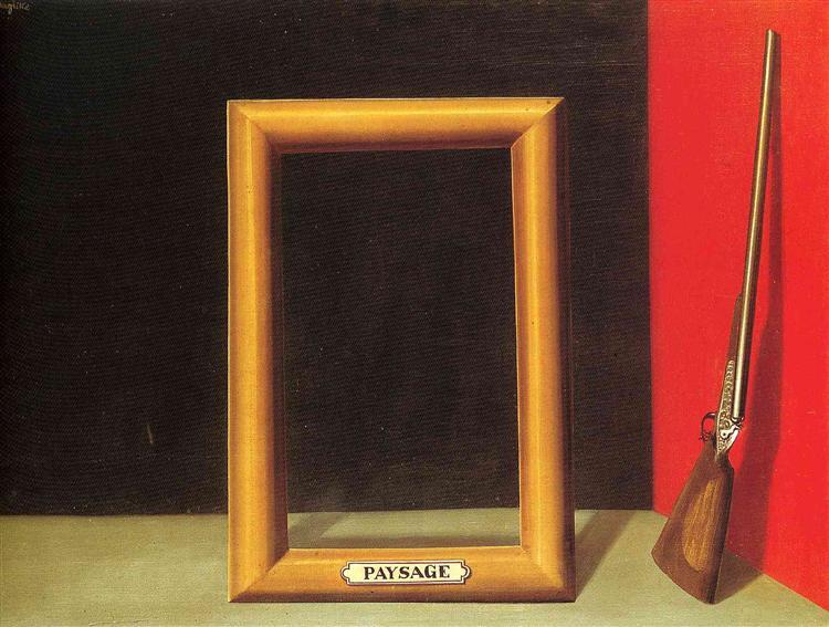 The delights of landscape, 1928 - Rene Magritte
