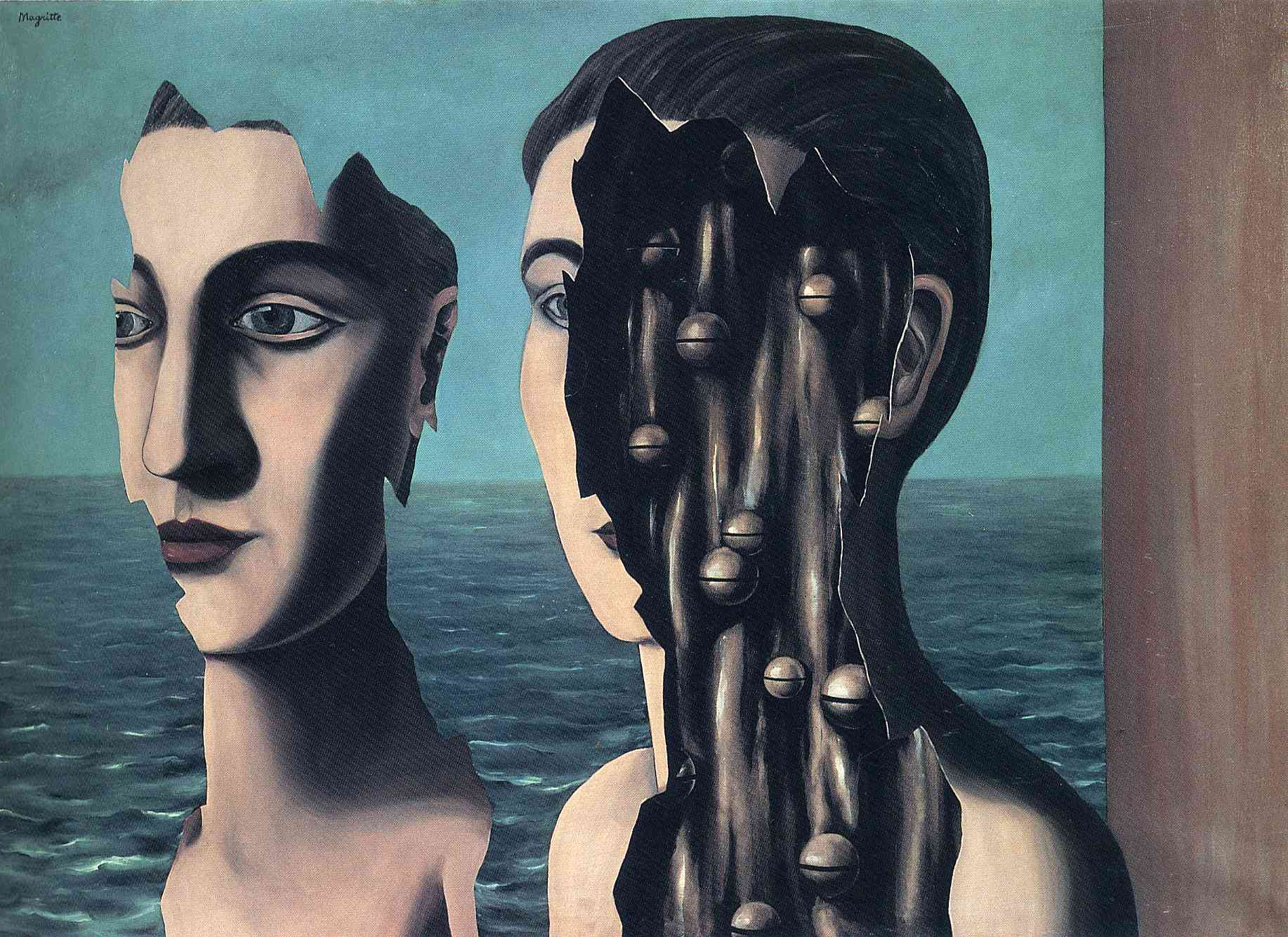 The double secret, 1927 - Rene Magritte - WikiArt.org