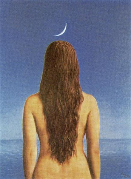 The evening gown, 1954 - Rene Magritte
