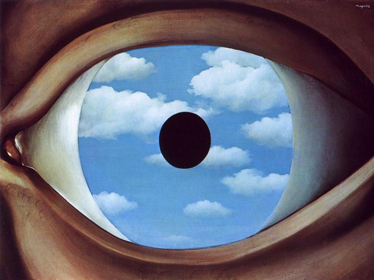 The false mirror, 1928 - Rene Magritte - WikiArt.org