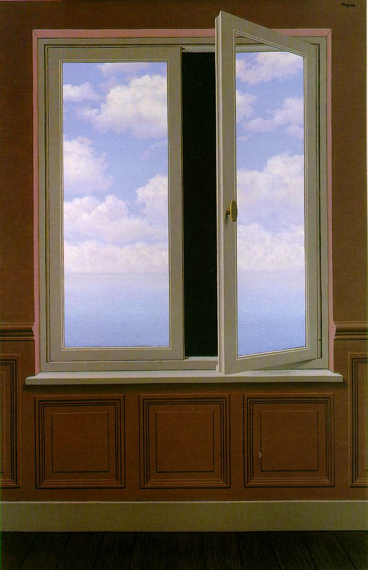 The looking glass 1963 rene magritte for Fenetre meaning
