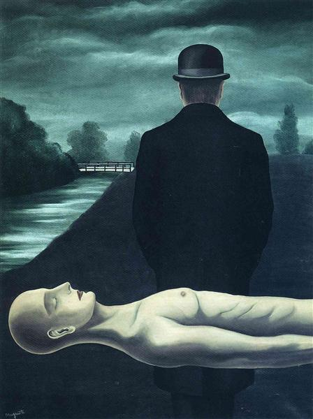 The musings of the solitary walker, 1926 - Rene Magritte