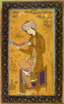 Youth reading - Reza Abbasi