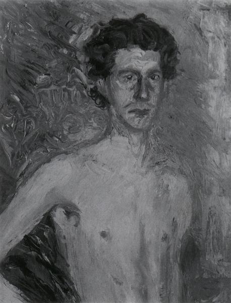 Fragment of a Self-Portrait, 1908 - Richard Gerstl