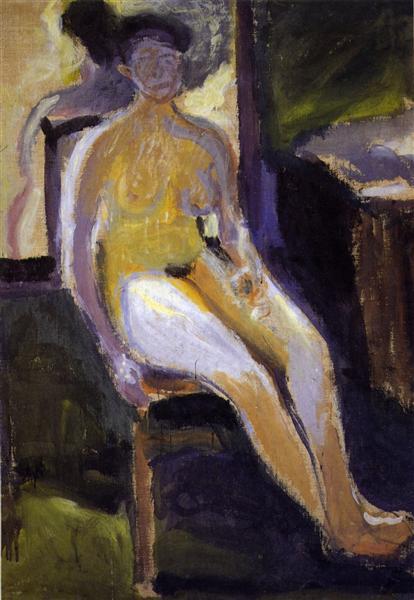Seated Female Nude, 1908 - Richard Gerstl