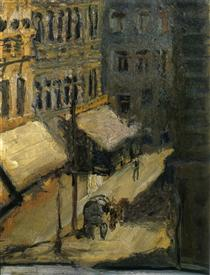 Small street (Nußdorferstraße) - Richard Gerstl