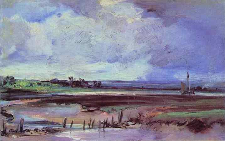 Les Salinieres by Trouville, 1826 - Richard Parkes Bonington