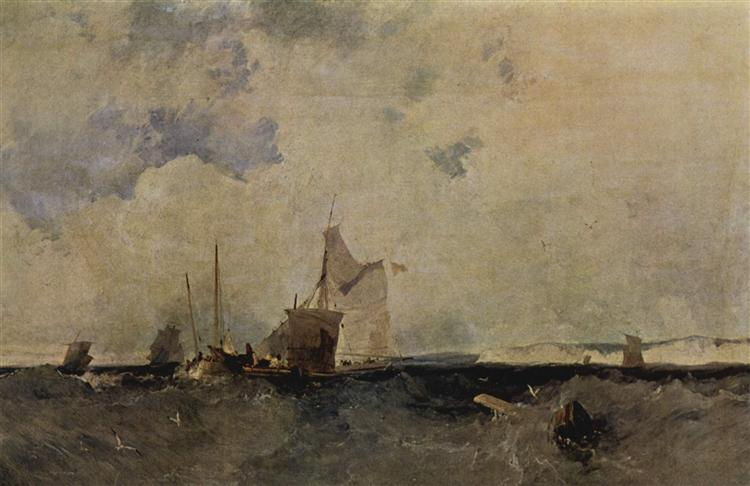 Seascape, 1827 - Richard Parkes Bonington