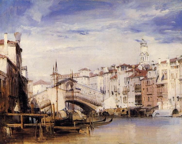 The Rialto, Venice, 1826 - Richard Parkes Bonington