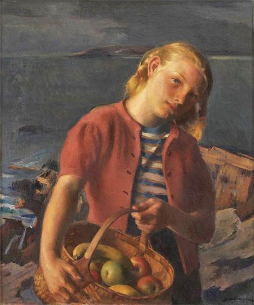 Girl from Village, 1960 - Robert Brackman