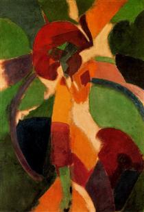 Donna con ombrello  Il parigino - Robert Delaunay
